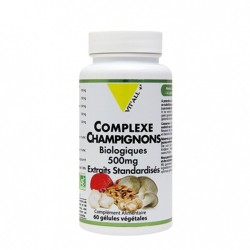 COMPLEXE CHAMPIGNONS BIO 60 gélules - Vitall +